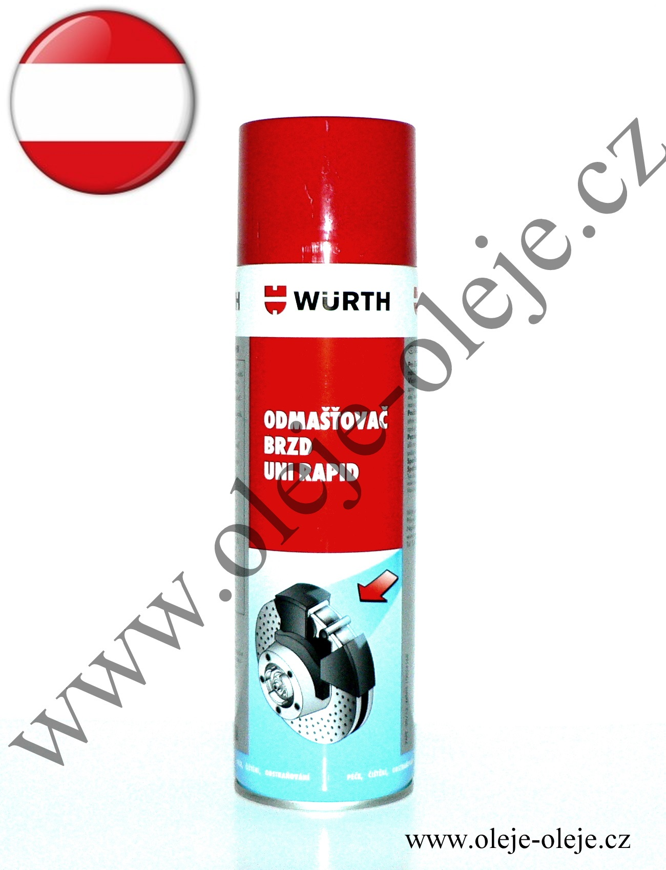 Würth Odmašťovač brzd Uni Rapid 500 ml